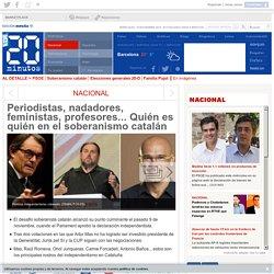 Periodistas, nadadores, feministas, profesores... Quién es quién en el soberanismo catalán