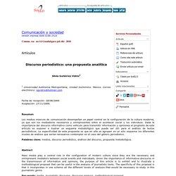 Discurso periodístico: una propuesta analítica