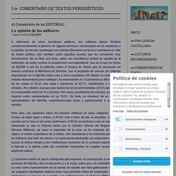 3.a- COMENTARIO DE TEXTOS PERIODÍSTICOS - Segundo bachillerato selectividad lengua jimdo page!