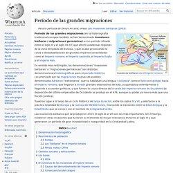 Período de las grandes migraciones