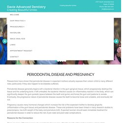 Periodontal Disease and Pregnancy