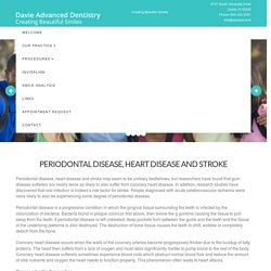 Periodontal Disease, Heart Disease and Stroke