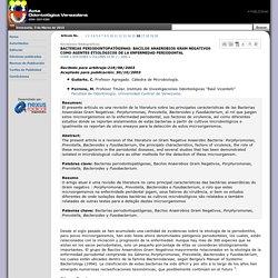 BACTERIAS PERIODONTOPATÓGENAS: BACILOS ANAEROBIOS GRAM NEGATIVOS COMO AGENTES ETIOLÓGICOS DE LA ENFERMEDAD PERIODONTAL