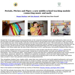 Periods, Pitches and Pipes: a new middle-school teaching module connecting music and math