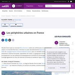 Les périphéries urbaines en France