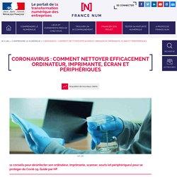 Coronavirus : Comment nettoyer efficacement votre ordinateur et périphériques