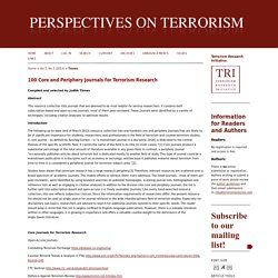 100 Core and Periphery Journals for Terrorism Research