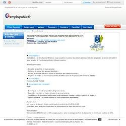 Offre emploi AGENTS PERISCOLAIRES POUR LES TEMPS PERI-EDUCATIFS (H/F) Yvelines, ÎLE-DE-FRANCE - Ref : 179305