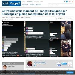 Le très mauvais moment de François Hollande sur Periscope en pleine contestation de la loi Travail