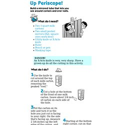 Science Activity: Make a Periscope