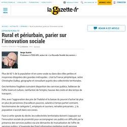 Rural et périurbain, parier sur l'innovation sociale
