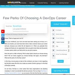 Few Perks Of Choosing A DevOps Career