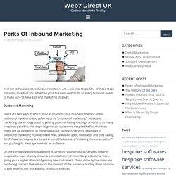 Perks of Inbound Marketing