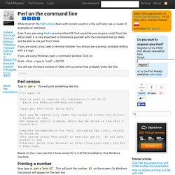 Perl on the command line