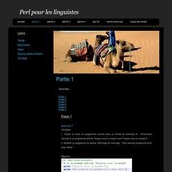 Perl pour les linguistes