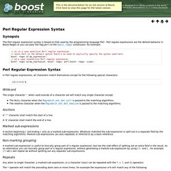 Perl Regular Expression Syntax - 1.57.0
