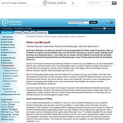 Perlen von Microsoft, Themen-Special im heise Software-Verzeichnis