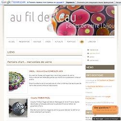 perles d'art - AU FIL DE L'EAU - perles de verre à la flamme, lampwork, bijoux