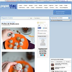 Perles de fruits secs