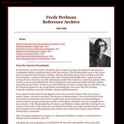 Fredy Perlman Reference Archive