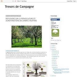 Tresors de Campagne: REFLEXIONS SUR LA PERMACULTURE ET AGROFORESTERIE DES ARBRES FRUITIERS