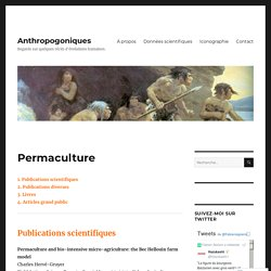 Permaculture – Anthropogoniques