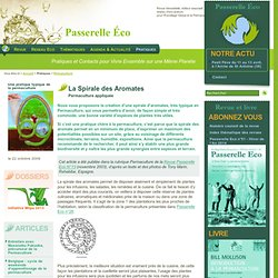 La Spirale des Aromates - Permaculture appliquée