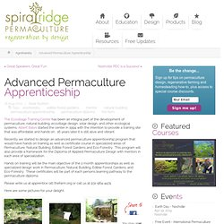 Advanced Permaculture Apprenticeship