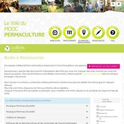 MOOC permaculture : BoiteRessources