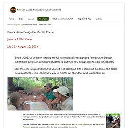 Permaculture Design Certificate Course with Finger Lakes Permaculture Institute