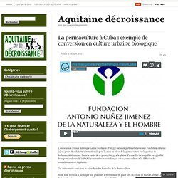 La permaculture à Cuba : exemple de conversion en culture urbaine biologique