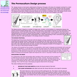 The Permaculture Design process