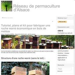 Tutoriel et plans pour fabriquer une ruche warré économique en bois de mélèze