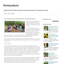 Ces jardiniers qui expérimentent la permaculture