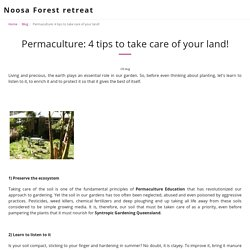 Permaculture: 4 tips to take care of your land!
