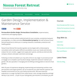 Permaculture Garden Design - Noosa Forest Retreat