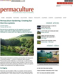 Permaculture Gardening: Creating Our Own Eco-systems