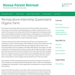 Permaculture Internship Queensland Sunshine Coast Noosa