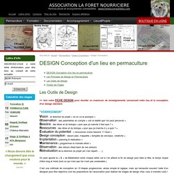 DESIGN Conception d'un lieu en permaculture (Conception/ Réalisation/ Maintenance/ Réévaluation)