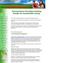 The Permaculture Principles Behind Design for Sustainable Living