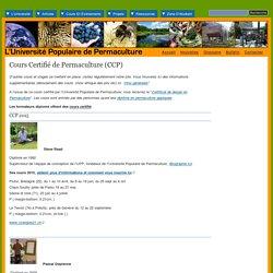 Cours Certifié de Permaculture (CCP)