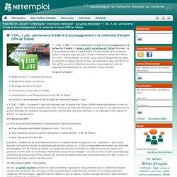Net Emploi : accompagner la recherche d'emploi sur le Net