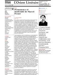 Permanence et modernité deMarcel Proust