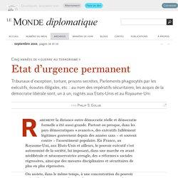 Etat d'urgence permanent, par Philip S. Golub (Le Monde diplomatique, septembre 2006)