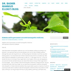 Diabetes and its permanent cure with homeopathic medicines