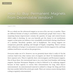 How to Buy Permanent Magnets from Dependable Vendors?