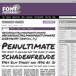 Permanent Marker Font Free by Font Diner