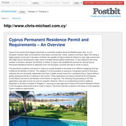 Cyprus Permanent Residence Permit and Requirements