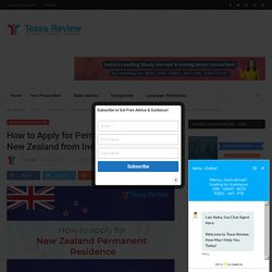 How to Apply for Permanent Residence in New Zealand from India