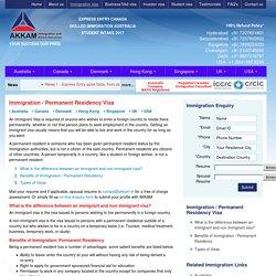 Canada Permanent Resident Visa Australia Permanent Resident Visa